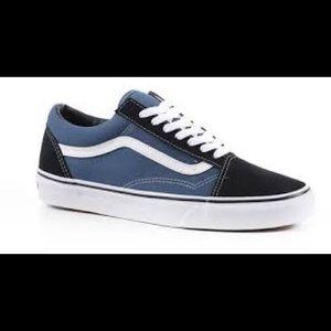 Vans Old Skool Black and Blue new